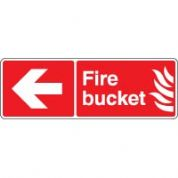 Fire Safety Sign - Fire Bucket Arrow 052